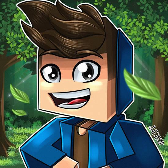 Desenho Colorido de Minecraft