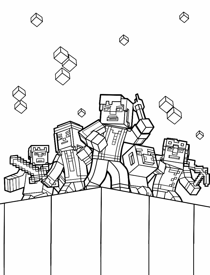 Desenho para pintar de Minecraft