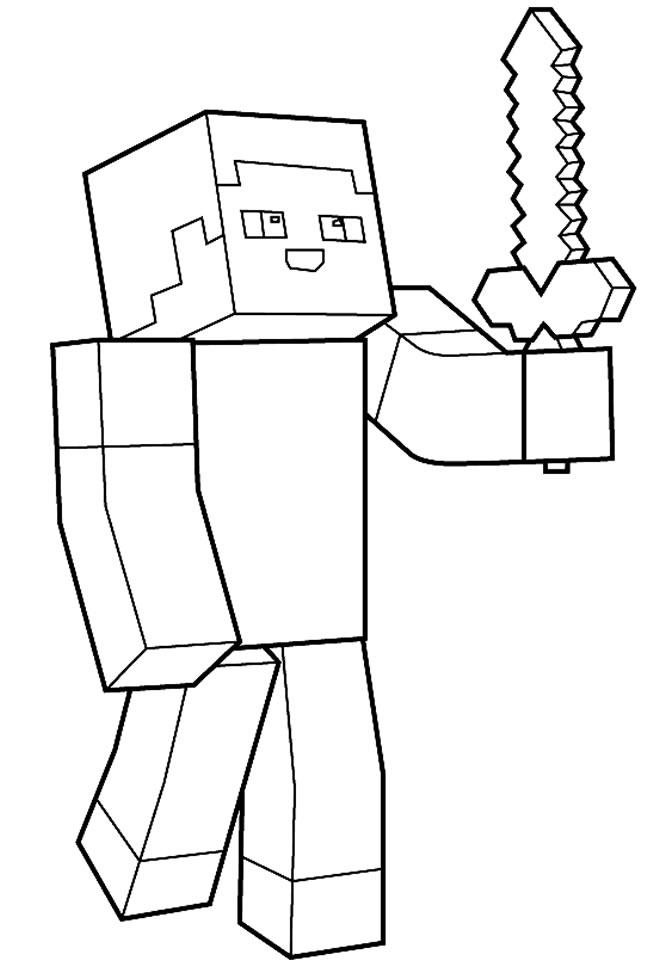 Desenho de Minecraft