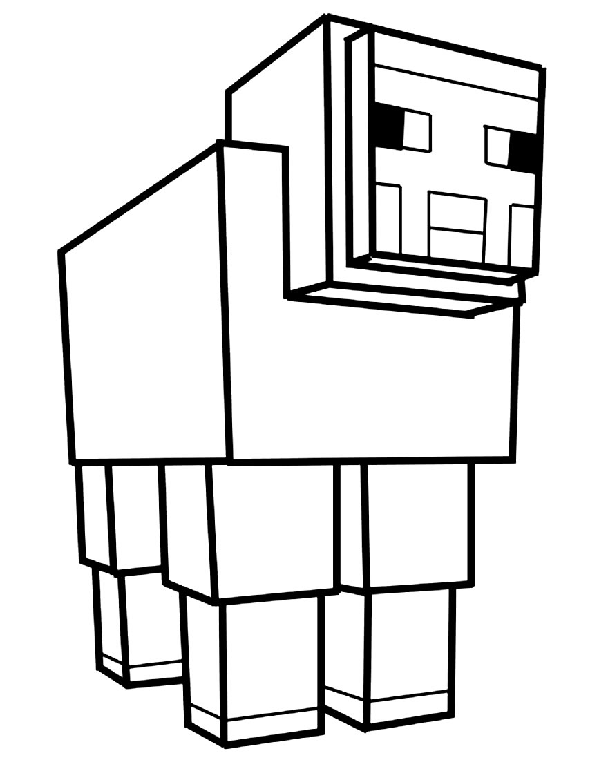 Minecraft para colorir