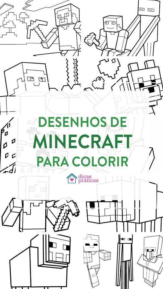 Desenhos de Minecraft para colorir