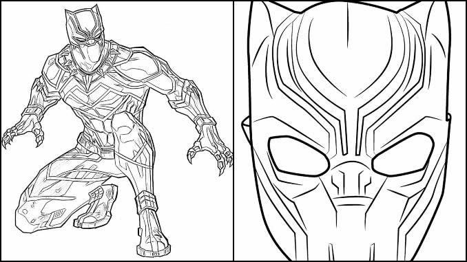 Desenhos de Pantera Negra