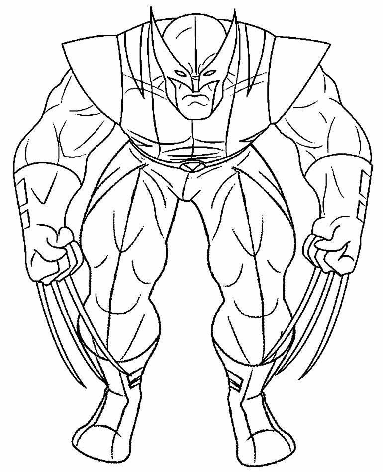 Desenho de Wolverine para imprimir