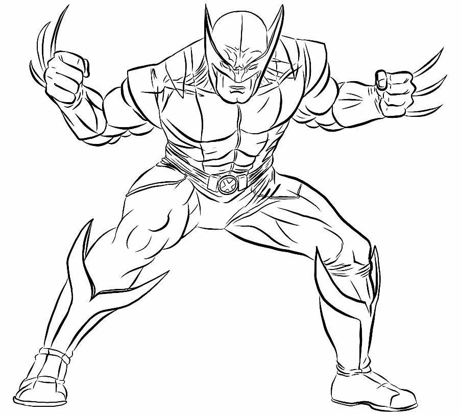 Desenho de Wolverine para pintar