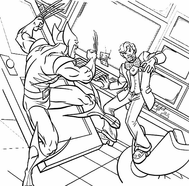 Imagem de Wolverine para imprimir