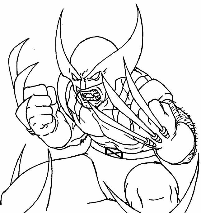 Imagem de Wolverine para colorir