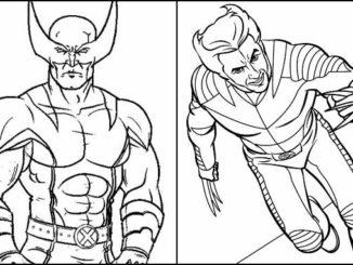 Desenhos para colorir de Wolverine