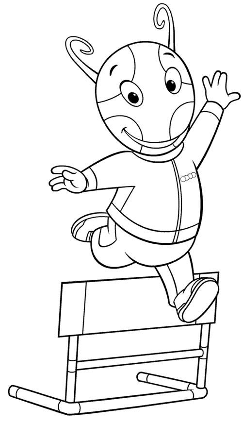 Imagem dos Backyardigans para colorir