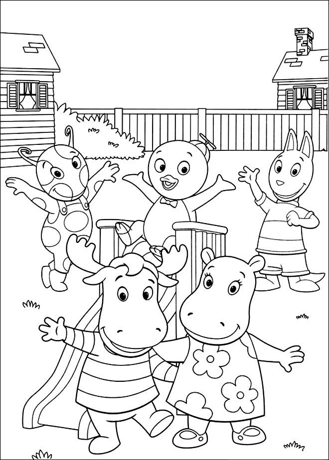 Desenho dos Backyardigans para pintar