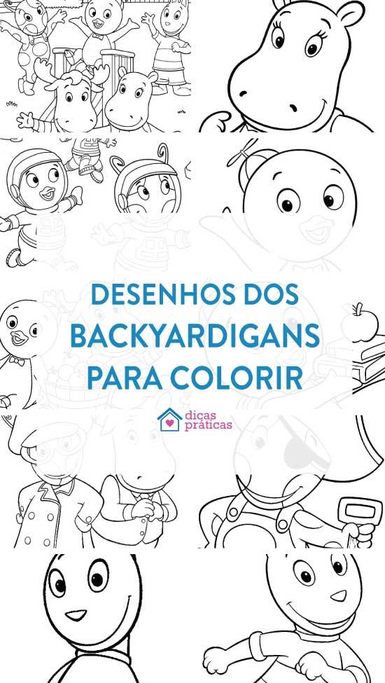 Desenhos dos Backyardigans para colorir