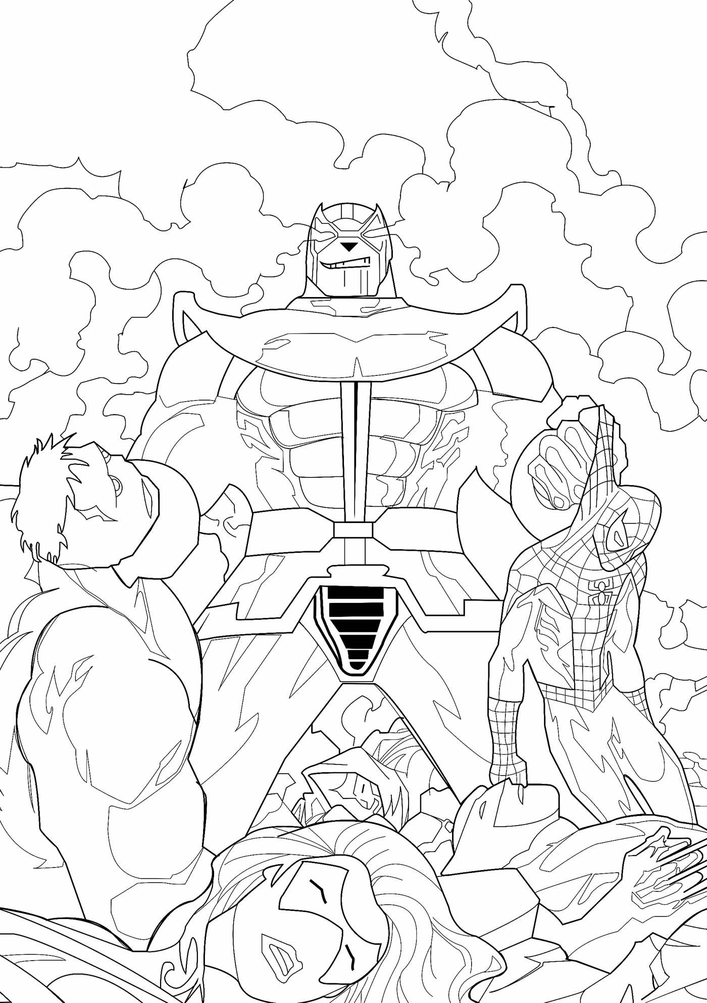 Desenho dos Vingadores para pintar