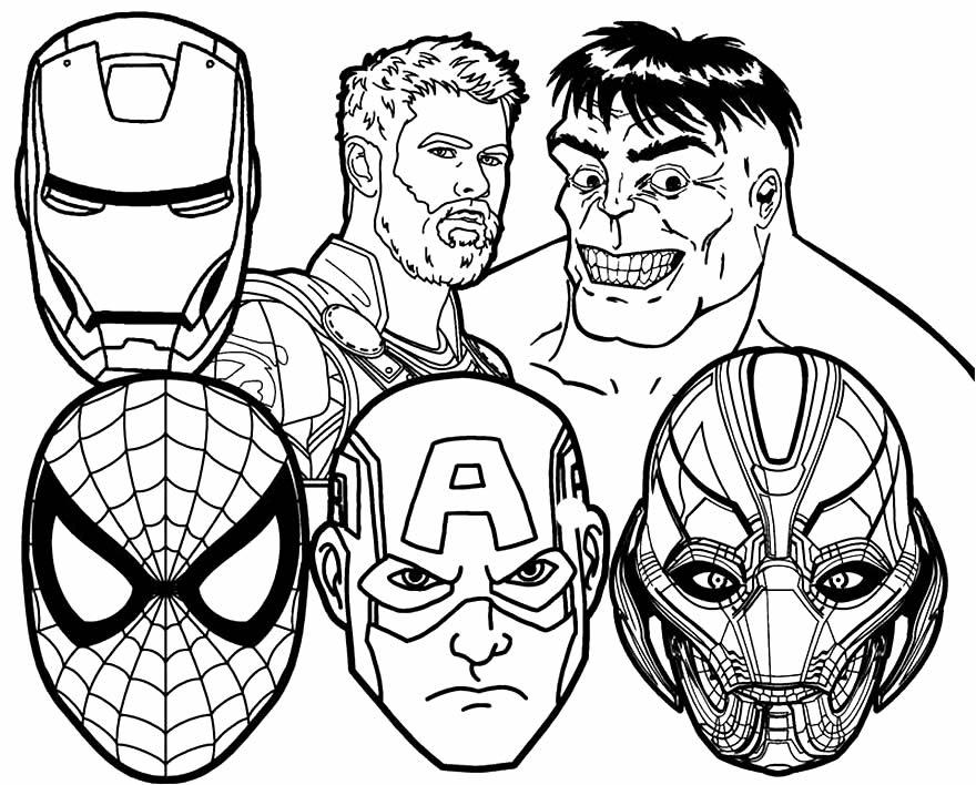 Imagem dos Vingadores para colorir