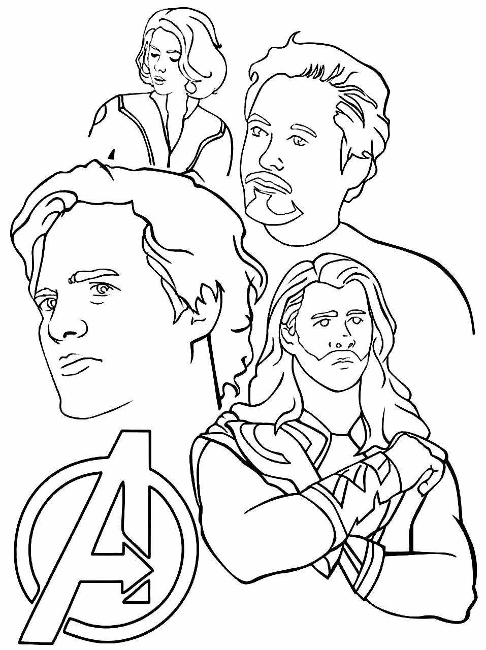 Imagem dos Vingadores para pintar