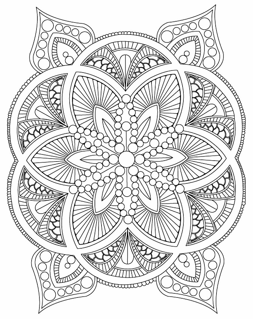 Imagem geométrica para colorir