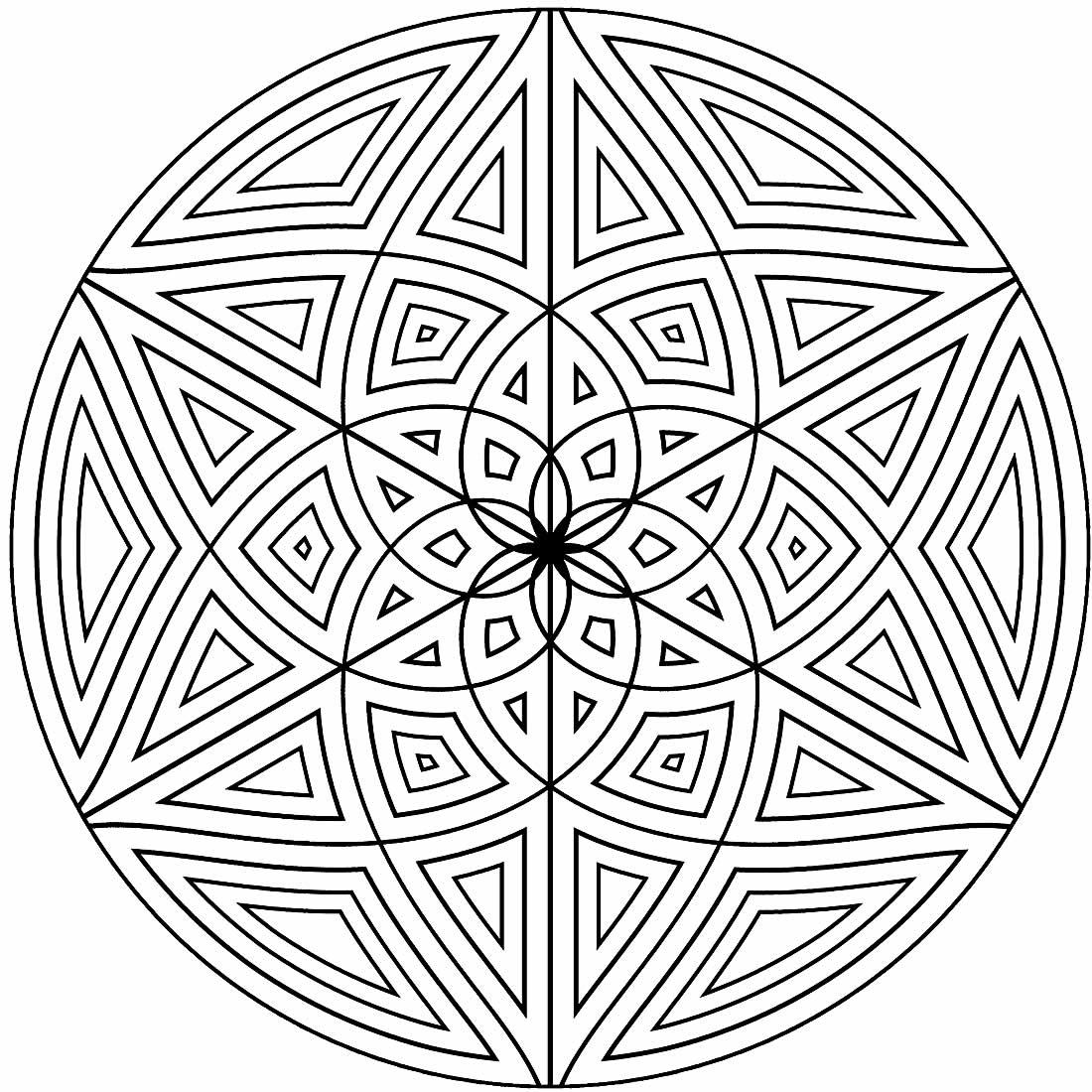 Molde geométrico para colorir