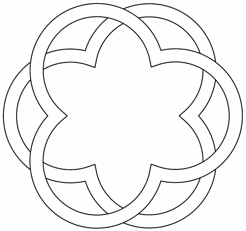Desenho geométrico para colorir