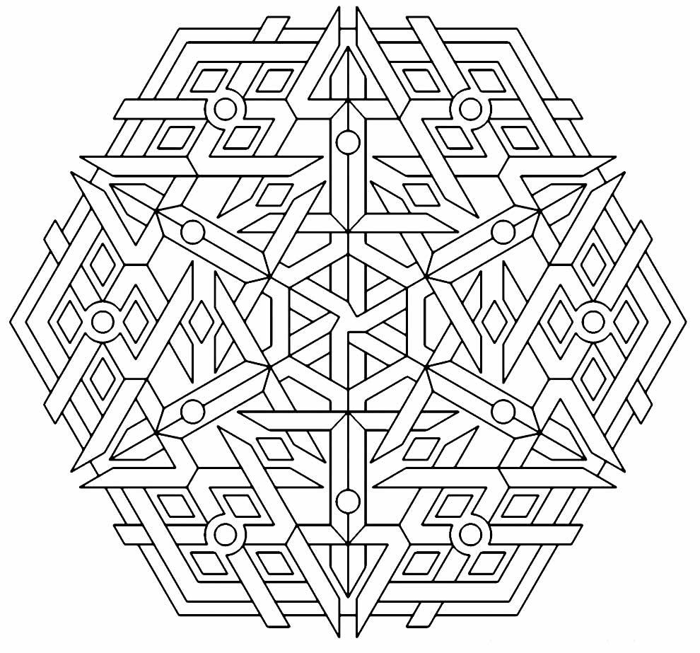 Imagem geométrico para colorir