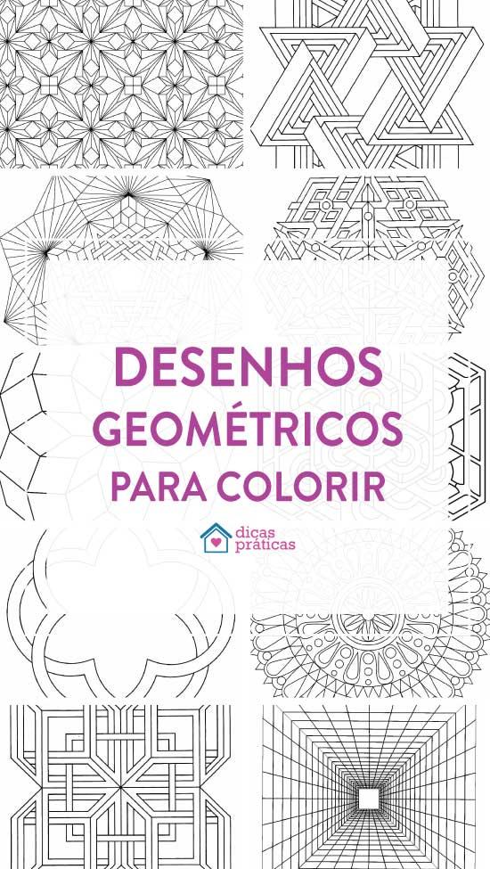 Desenhos geométricos para colorir