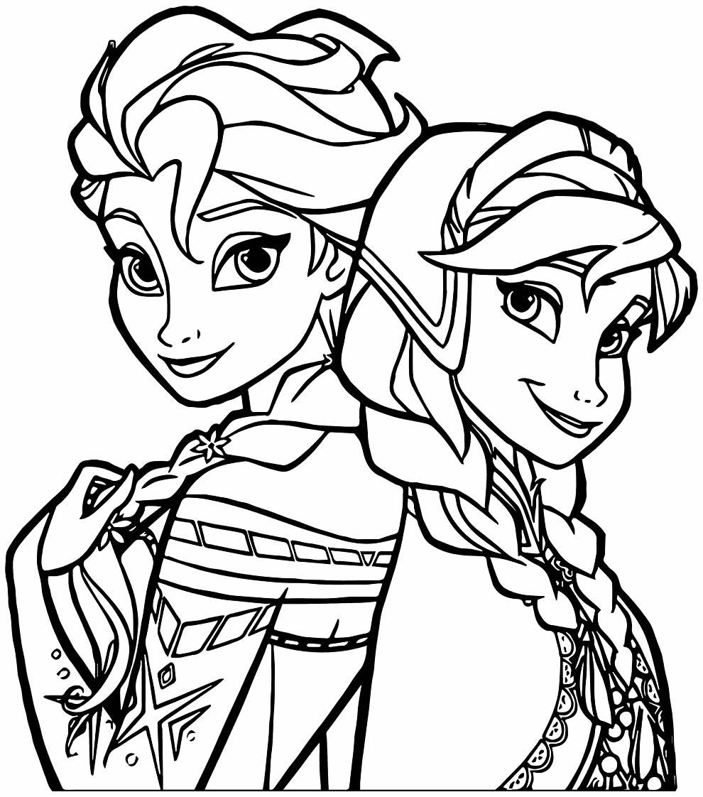 Desenho da Frozen e da Anna