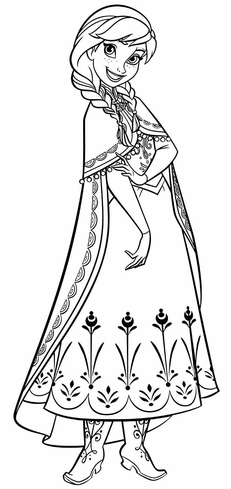 Desenho da Anna para colorir