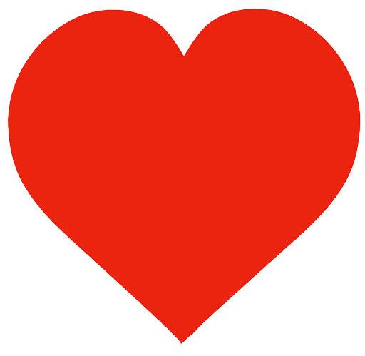Lindo molde de coração vermelho