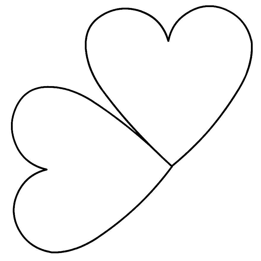 Molde de coração para cartão