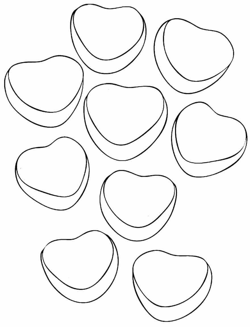 Moldes fofos de corações