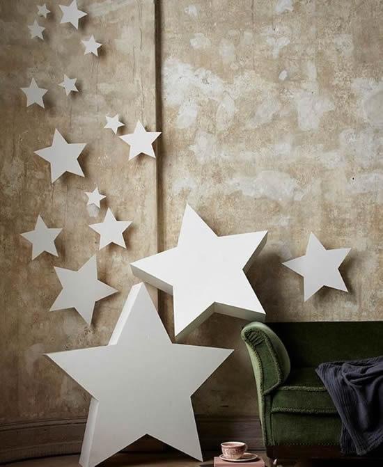 Enfeite com estrelas para casa