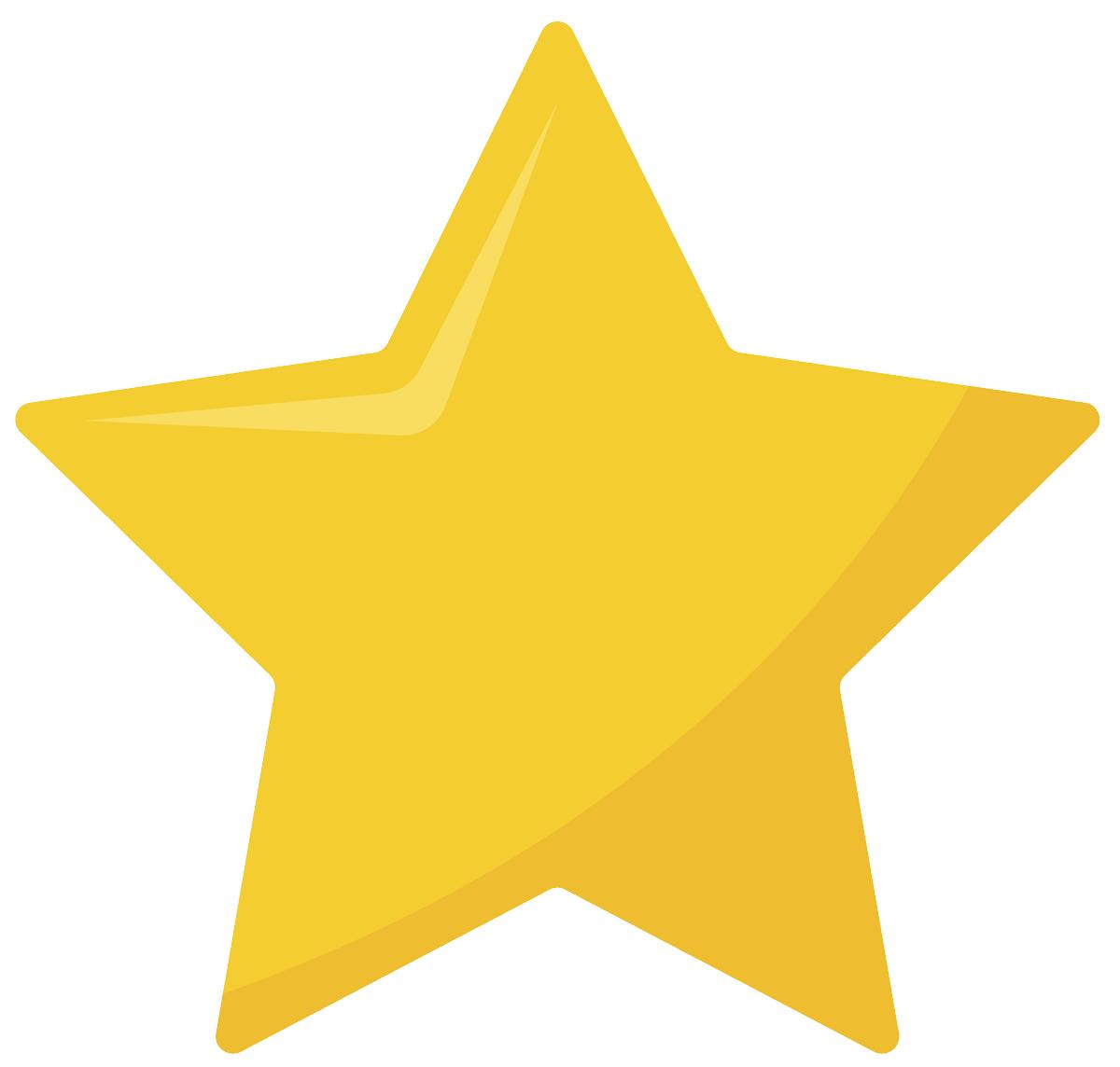 Molde colorido de estrela