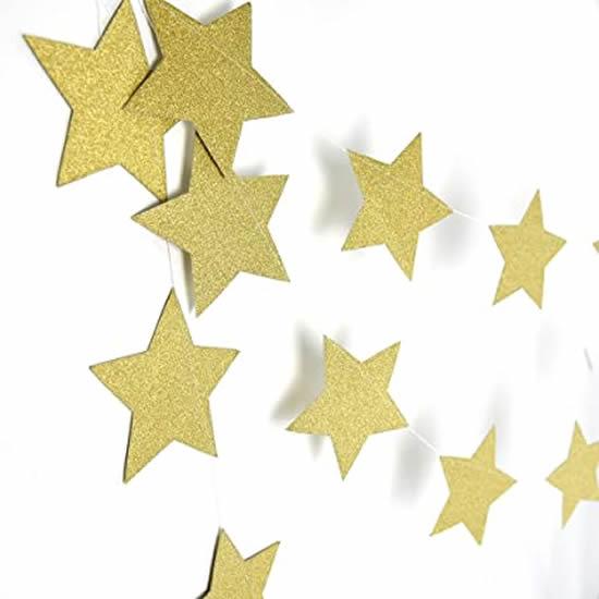 Guirlanda de estrelas de papel