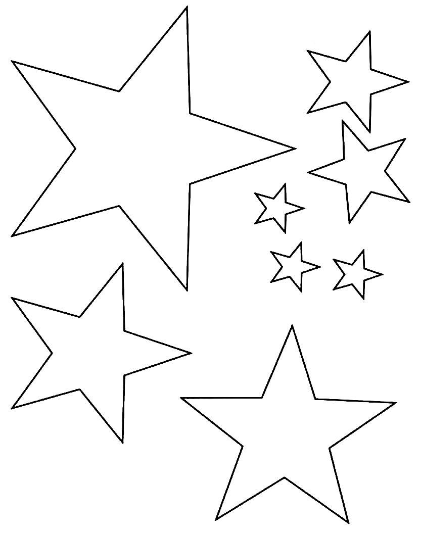 Moldes de estrelas lindos