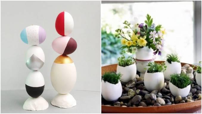 Artesanatos com casca de ovo