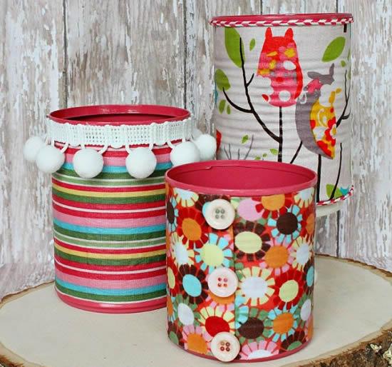 Artesanato com latas para as crianças