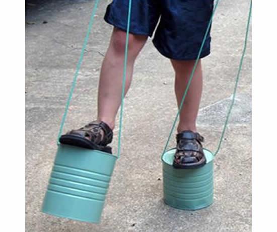 Artesanato com lata para crianças