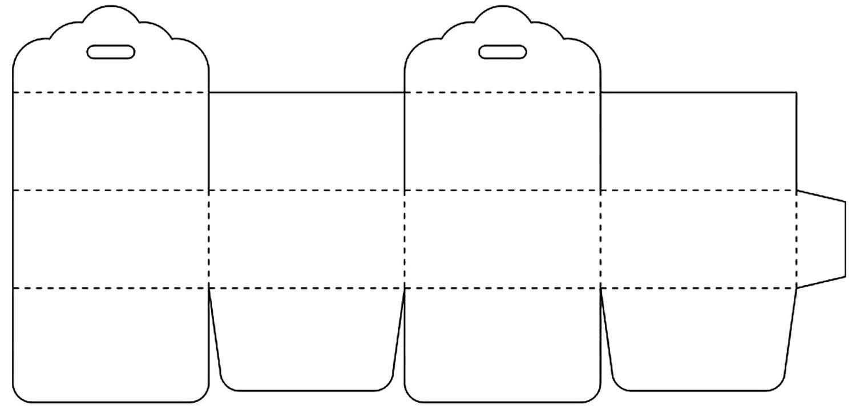 Molde de caixinha de papel para presente