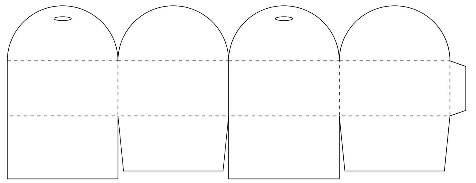 Molde para caixinha de presente de papel