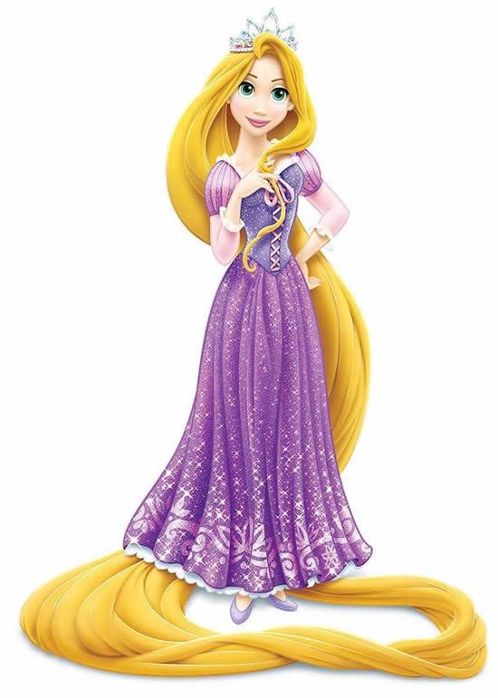 Desenho colorido da Rapunzel