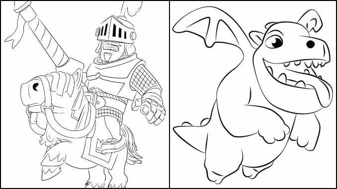 Desenhos para colorir de Clash Royale