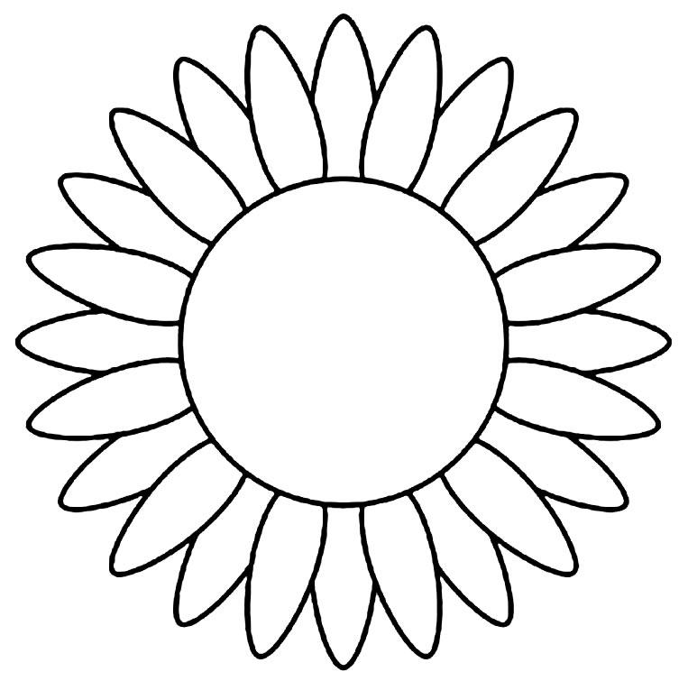 Desenho de girassol para imprimir