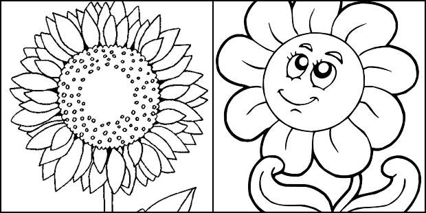 Desenhos de Girassol para colorir