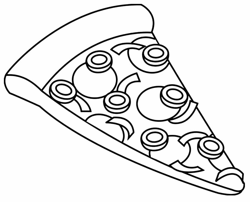 Imagem para colorir de pizza