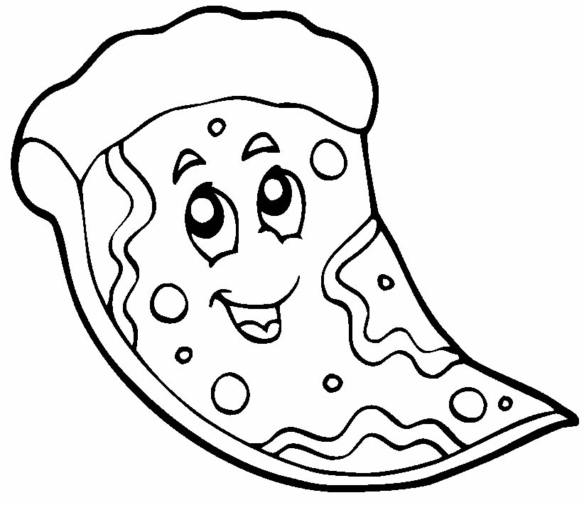 Desenho de pizza para pintar