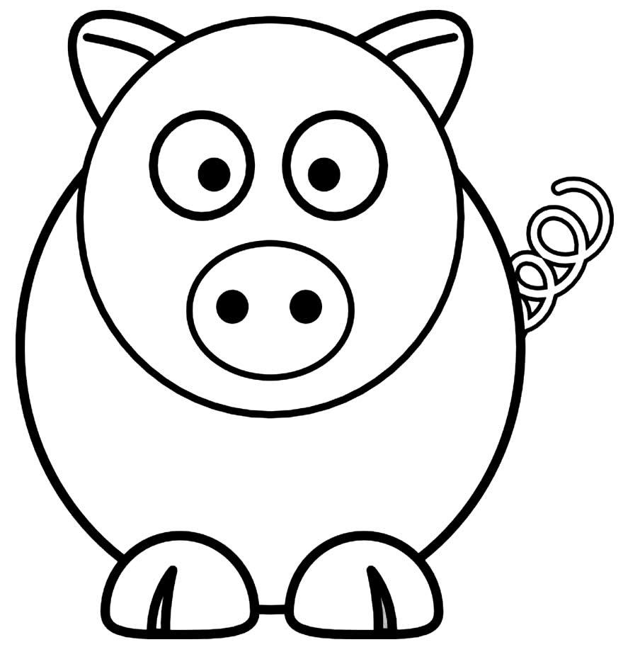 Imagem de porquinho para colorir