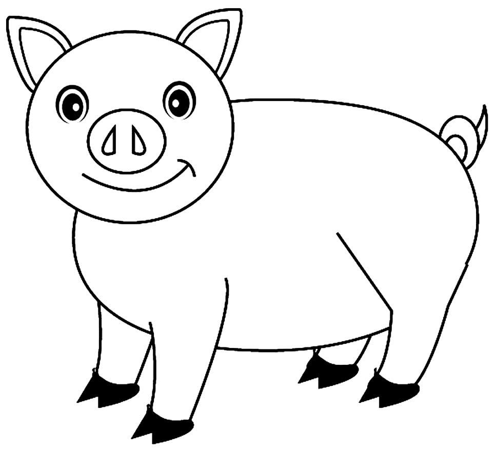 Imagem de porquinho para pintar