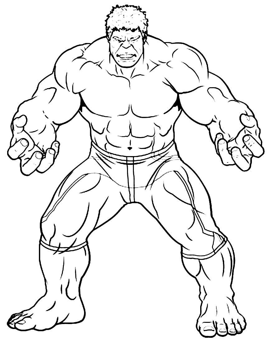 Desenho de Hulk