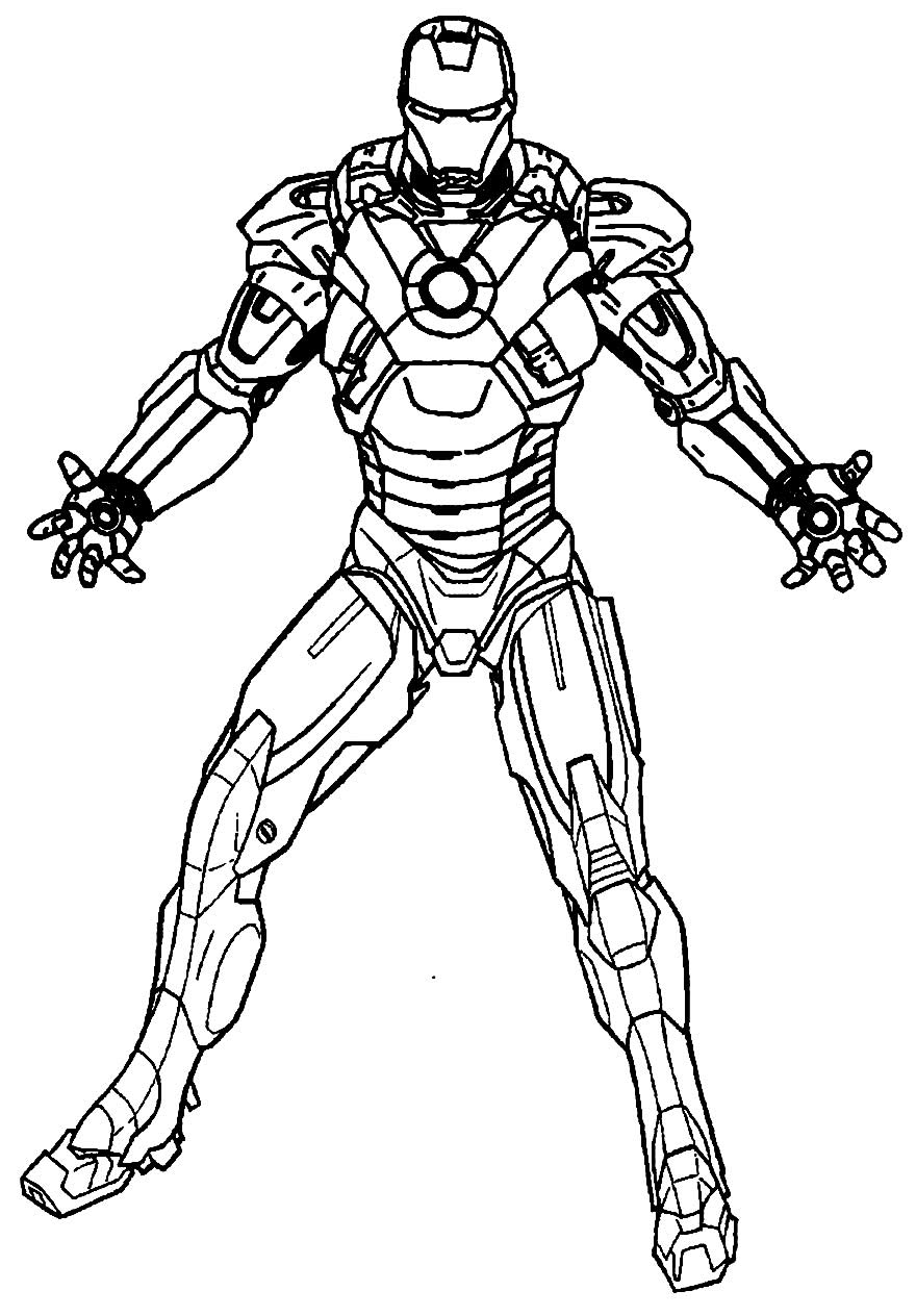 Desenho do Homem de Ferro