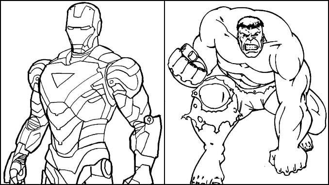 Desenhos de Super-Heróis para colorir