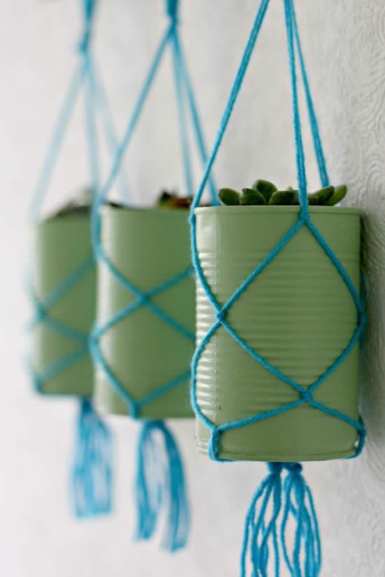 Faça vasos lindos com latas