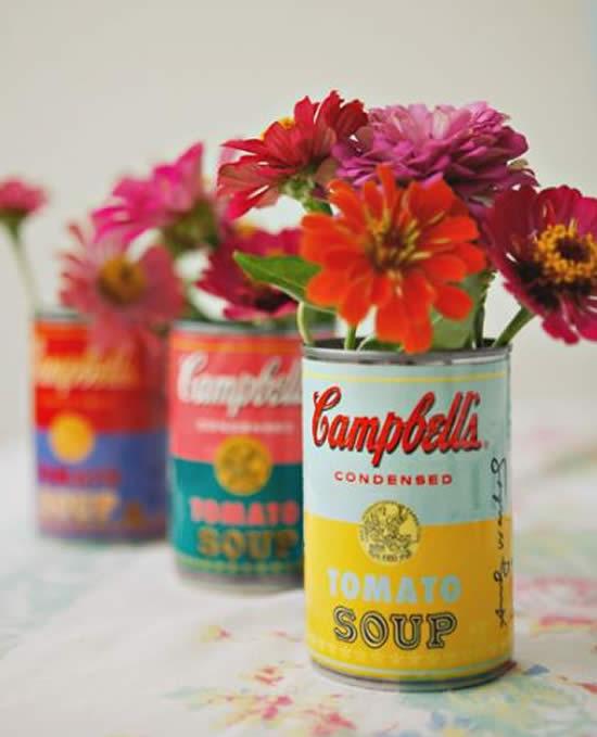 Artesanatos lindos com latas