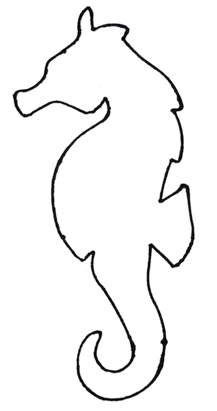 Molde de cavalo marinho para imprimir